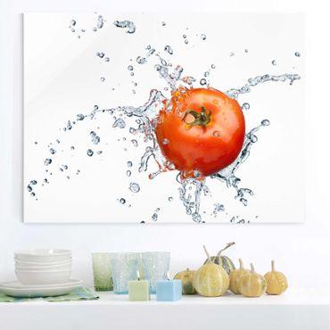 Glasbild Küche - Frische Tomate - Quer 4:3
