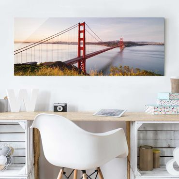 Glasbild - Golden Gate Bridge in San Francisco - Panorama Quer