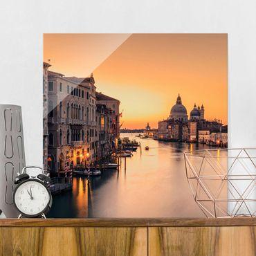 Glasbild - Goldenes Venedig - Quadrat 1:1
