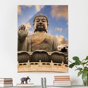 Glasbild - Großer Buddha - Hoch 3:4