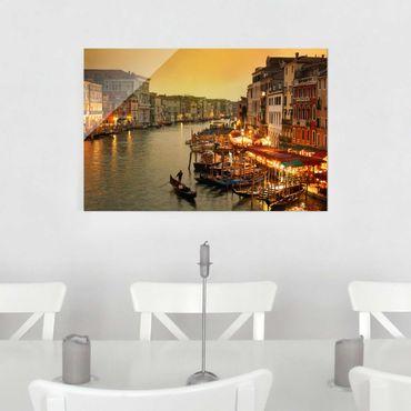 Glasbild - Großer Kanal von Venedig - Quer 3:2