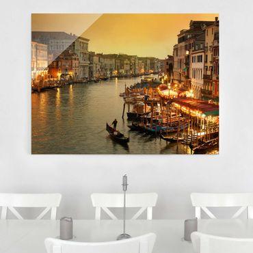 Glasbild - Großer Kanal von Venedig - Quer 4:3