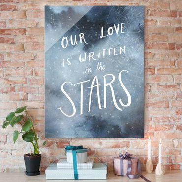Glasbild - Himmlische Liebe - Sterne - Hochformat 4:3