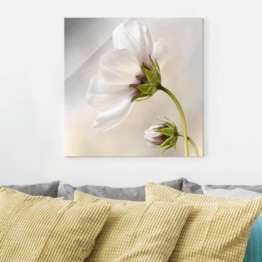 Glasbild - Himmlischer Blütentraum - Quadrat 1:1