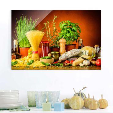 Glasbild - Italienische Küche - Querformat 3:2