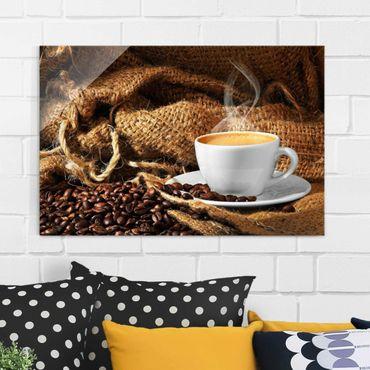 Glasbild - Kaffee am Morgen - Quer 3:2