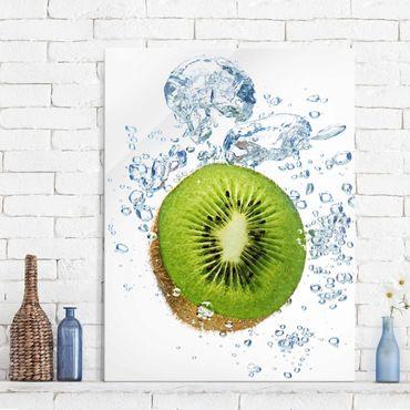 Glasbild Küche - Kiwi Bubbles - Hoch 3:4