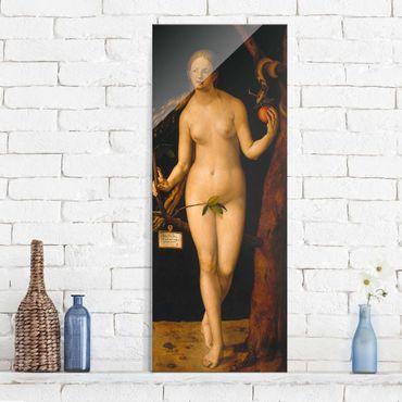 Glasbild - Kunstdruck Albrecht Dürer - Eva - Panorama Hoch