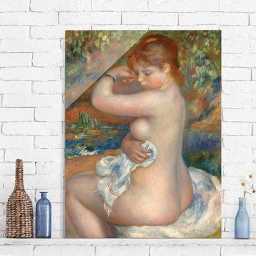 Glasbild - Kunstdruck Auguste Renoir - Badende - Impressionismus Hoch 3:4