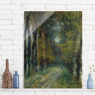 Glasbild - Kunstdruck Auguste Renoir - Die Allee - Impressionismus Hoch 3:4