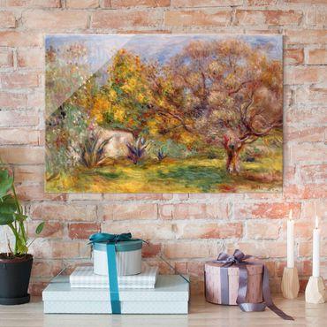 Glasbild - Kunstdruck Auguste Renoir - Garten mit Olivenbäumen - Impressionismus Quer 3:2