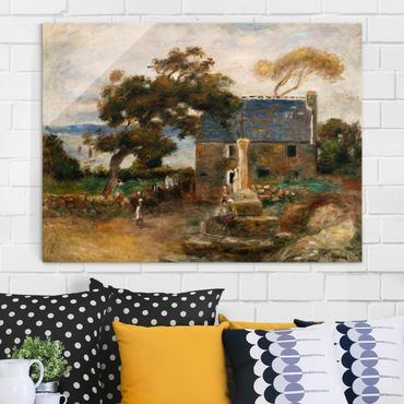Glasbild - Kunstdruck Auguste Renoir - Treboul bei Douardenez, Bretagne - Impressionismus Quer 4:3