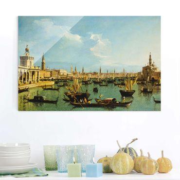 Glasbild - Kunstdruck Bernardo Bellotto - Bacino di San Marco, Venedig - Quer 3:2