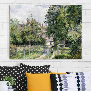 Glasbild - Kunstdruck Camille Pissarro - Saint-Martin bei Gisors - Impressionismus Quer 4:3