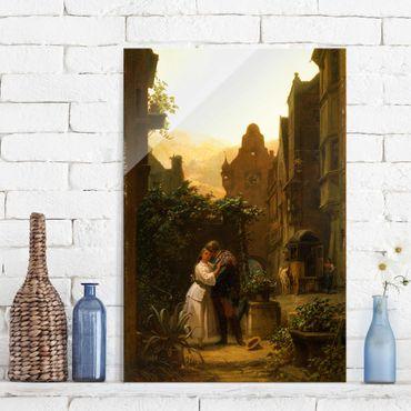 Glasbild - Kunstdruck Carl Spitzweg - Der Abschied - Hoch 2:3