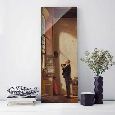 Glasbild - Kunstdruck Carl Spitzweg - Der Schreiber - Panorama Hoch