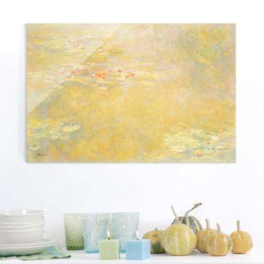 Glasbild - Kunstdruck Claude Monet - Der Seerosenteich - Impressionismus Quer 3:2