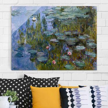 Glasbild - Kunstdruck Claude Monet - Seerosen (Nympheas) - Impressionismus Quer 4:3