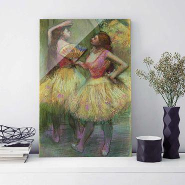 Glasbild - Kunstdruck Edgar Degas - Zwei Tänzerinnen bevor sie auf die Bühne gehen - Impressionismus Hoch 2:3