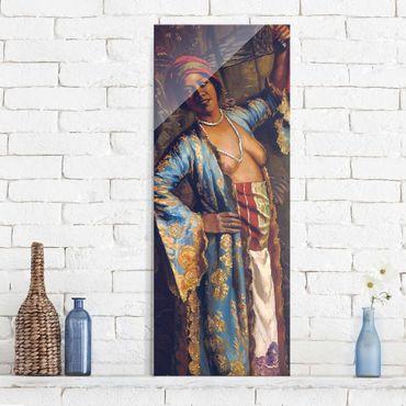 Glasbild - Kunstdruck Emile Bernard - Eine exotische Tänzerin - Panorama Hoch