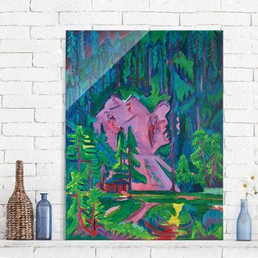 Glasbild - Kunstdruck Ernst Ludwig Kirchner - Steinbruch bei Wildboden - Hoch 3:4