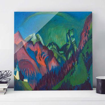 Glasbild - Kunstdruck Ernst Ludwig Kirchner - Tinzenhorn, Zügenschlucht bei Monstein - Quadrat 1:1