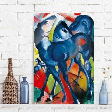 Glasbild - Kunstdruck Franz Marc - Die Blauen Fohlen - Expressionismus Hoch 2:3