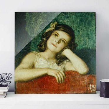 Glasbild - Kunstdruck Franz von Stuck - Mary, die Tochter des Künstlers - Quadrat 1:1