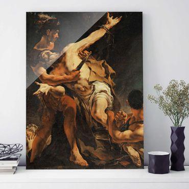Glasbild - Kunstdruck Giovanni Battista Tiepolo - Martyrium des hl. Bartholomäus - Hoch 3:4