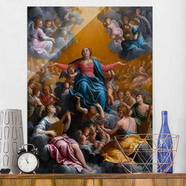 Glasbild - Kunstdruck Guido Reni - Himmelfahrt Mariens - Hoch 3:4