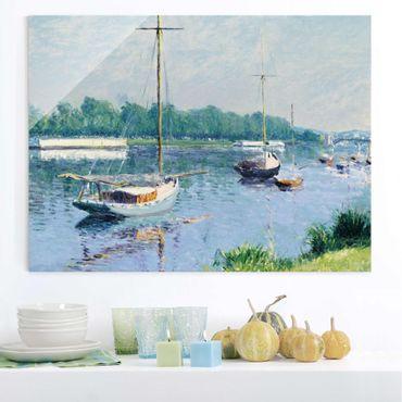 Glasbild - Kunstdruck Gustave Caillebotte - Das Becken von Argenteuil - Quer 4:3