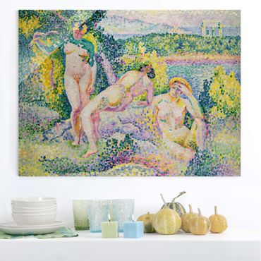 Glasbild - Kunstdruck Henri Edmond Cross - Nymphes - Pointillismus - Quer 4:3