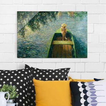 Glasbild - Kunstdruck Henri Lebasque - Mit dem Boot auf der Marne - Quer 3:2