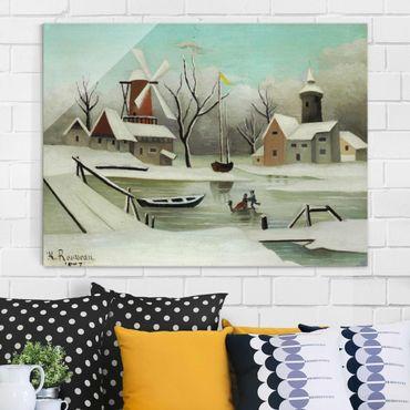Glasbild - Kunstdruck Henri Rousseau - Der Winter - Quer 4:3