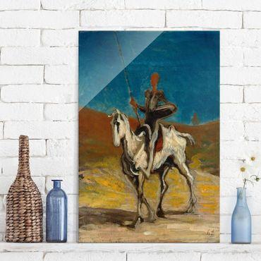 Glasbild - Kunstdruck Honoré Daumier - Don Quixote - Hoch 2:3