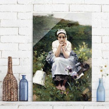 Glasbild - Kunstdruck Joaquin Sorolla - Das Milchmädchen - Hoch 2:3