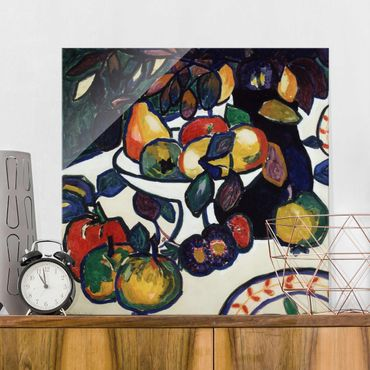 Glasbild - Kunstdruck Kasimir Malewitsch - Stillleben - Quadrat 1:1