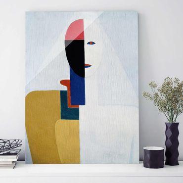 Glasbild - Kunstdruck Kasimir Malewitsch - Weiblicher Torso II - Hoch 3:4