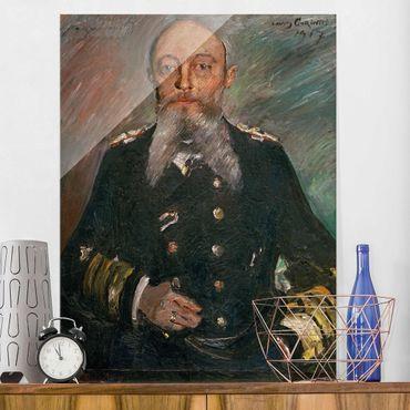 Glasbild - Kunstdruck Lovis Corinth - Alfred von Tirpitz - Hoch 3:4