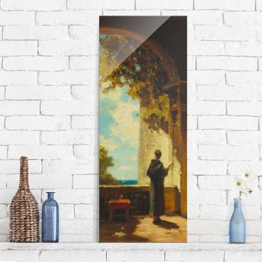 Glasbild - Kunstdruck Lyonel Feininger - Draisinen-Fahrer (Laufräder) - Panorama Hoch