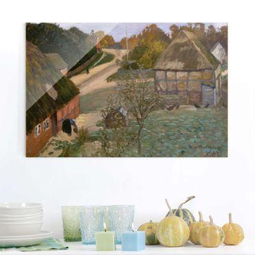 Glasbild - Kunstdruck Otto Modersohn - Alt-Worpswede - Quer 3:2