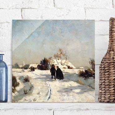 Glasbild - Kunstdruck Otto Modersohn - Neujahrstag - Quadrat 1:1