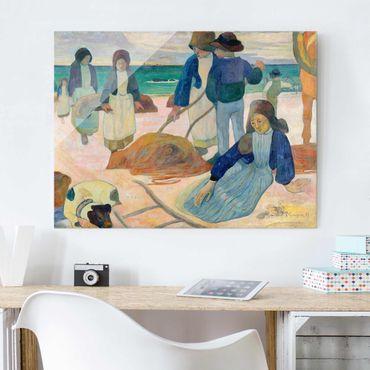 Glasbild - Kunstdruck Paul Gauguin - Bretonische Tangsammlerinnen (II) - Post-Impressionismus Quer 4:3