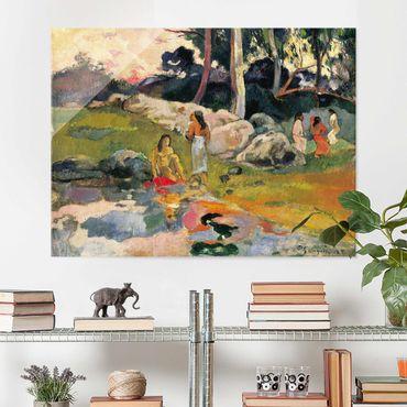 Glasbild - Kunstdruck Paul Gauguin - Frauen an einem Flussufer - Post-Impressionismus Quer 4:3