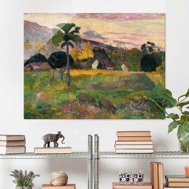 Glasbild - Kunstdruck Paul Gauguin - Haere mai (Komm her) - Post-Impressionismus Quer 4:3