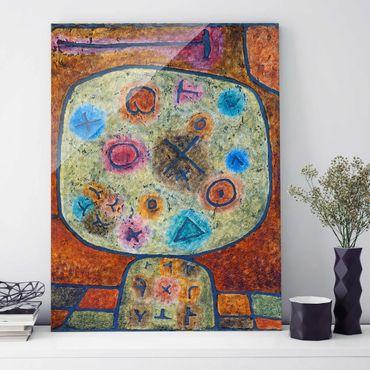 Glasbild - Kunstdruck Paul Klee - Blumen in Stein - Expressionismus Hoch 3:4