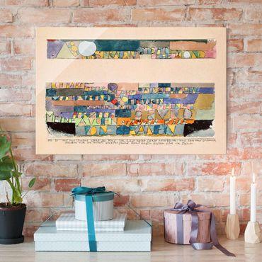Glasbild - Kunstdruck Paul Klee - Hoch und strahlend steht der Mond... - Expressionismus Quer 3:2