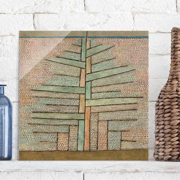 Glasbild - Kunstdruck Paul Klee - Kiefer - Expressionismus Quadrat 1:1