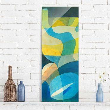 Glasbild - Kunstdruck Paul Klee - Lichtbreitung - Expressionismus Panorama Hoch