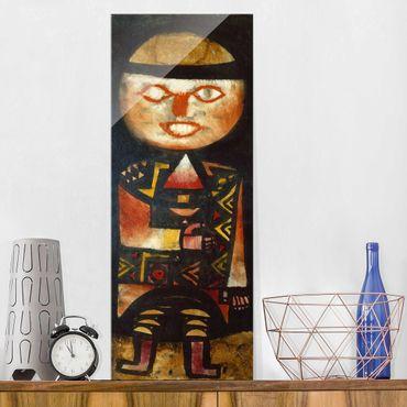 Glasbild - Kunstdruck Paul Klee - Schauspieler - Expressionismus Panorama Hoch